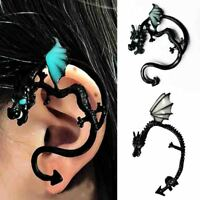 Chic Gothic Dragon Glowing Clip Ear Cuff Stud Women Punk Wrap Earring Jewel Gift