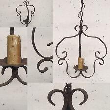 lanterne rustique  fonte de fer model un bras de lumière . XX siècle .