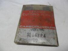 NOS CARBORUNDUM SQ163P4 CCT-707 CERAMIC INSERTS - PACKAGE OF 10 (GR)