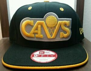 CLEVELAND CAVALIERS CAVS NBA Basketball NEW ERA 9FIFTY Black Snapback Hat NWT$30
