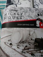 DISNEY DRYING MAT  MINNIE & Mickey MOUSE 16 X 18 100% Polyester BLACK WHITE 🇺🇸