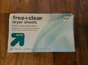 Free & Clear Fabric Softener Dryer Sheets - Up&Up