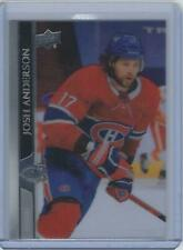 2020-21 Upper Deck Extended series Clear Cut Acetate Josh Anderson