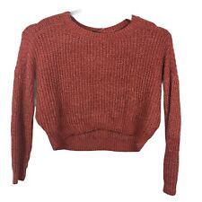 Wild Fable Womens Cropped Sweater Size Small Berry Color New