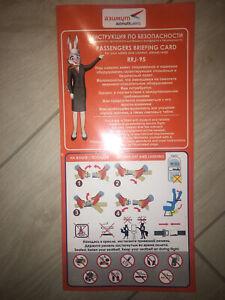 Safety card Azimuth Superjet SSJ RRJ