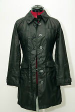 EUC Bebe Polyurethane Black Trenchcoat Raincoat Lightweight Knee Length Size XS
