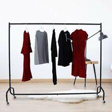 6Ft Metal Heavy Duty Commercial Garment Rack Rolling Clothing Shelf w/ Wheels