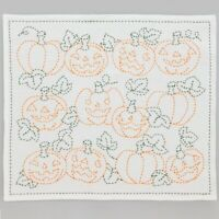 Japanese Embroidery  SASHIKO KIT Hana Fukin Thread  Halloween Pumpkin  HOBBYRA
