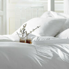 White Queen Size Solid Fitted & Flat 4-Piece Sheet Sets 1800 Series Bedding Set