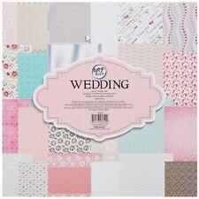 "CraftStash Paper Pad Cardstock Wedding 12"" x 12""   24 Sheets"