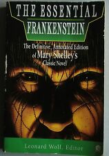 Mary Shelley THE ESSENTIAL FRANKENSTEIN Definitive Annotated Edition Pb