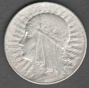 Poland 5 Zlotych 1932  Queen Judwiga , High Grade UNC ?? ,  Silver coin (0121)