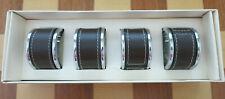 NIB PIER 1 IMPORTS SET of 4 STITCHED Leather NAPKIN Rings