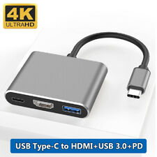 Adapter Converter PD Charging USB 3.0 4K HDMI 3 in 1 Hub For MacBook Air Pro