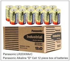 "Panasonic LR20XWA/C, Alkaline ""D Cell, Box of 12 - New"