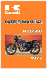 KAWASAKI Parts Manual KZ650 KZ650C Z650 Z650C 1977 Replacement Spares Catalog