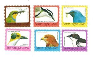 MODERN GEMS - Sierra Leone - Birds DEFINITIVE - Set of 6 Stamps - MNH