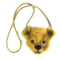 Merrythought mohair teddy bear head purse coin doll miniature England