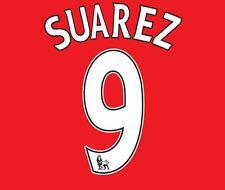 SUAREZ #9 Liverpool 2011-2014 HOME EPL CALCIO Nameset per maglia LFC YNWA