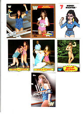 Wendi Richter Wrestling Lot of 7 Different Trading Cards 2 Inserts WWE TNA WR-A1