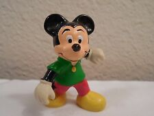 """New listing Vintage Walt Disney Productions Rubber Mickey Mouse Toy Figure ~ Hong Kong ~ 2"""""""