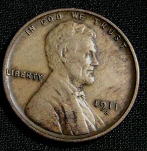 1911-S San Francisco Mint Lincoln Wheat Cent Penny