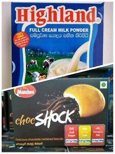 HIGHLAND Full Cream Milk Powder Vitamin A & D 400g|14.1oz + Free Biscuit Box