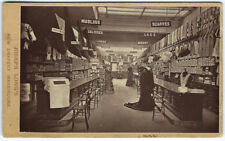 Photo cdv mercerie drapier -General Draper Joseph Long 1880 London - costumier