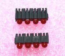 Red T-1 3/4 (5mm), Horizontial, 4 x LED, QT# MR60539.MP8BA - Lot of 50 (EBB#2)
