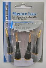 Monster Lock Flex Tip Modular Speaker Cable Termination 4pcs z2 bi-wire biwire