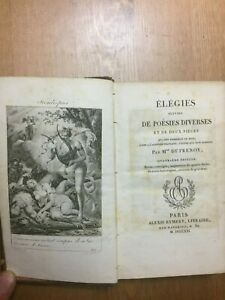 [EROTIC POETRY] Adélaïde-Gillette Dufrénoy ÉLÉGIES SUIVES  4th edition 1821 book
