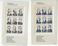Scott #2216-19, Souvenir Sheets 1986 VF MNH w/Folder