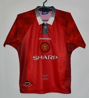 MANCHESTER UNITED 1996/1998 HOME FOOTBALL SHIRT JERSEY UMBRO SIZE L KIDS