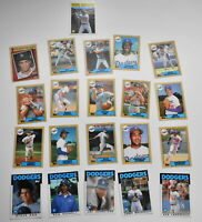 Topps Lot of 21 Baseball Cards Los Angeles Dodgers 1986 1987