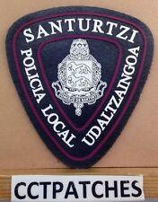 SANTURTZI, SPAIN POLICIA UDALTZAINGOA LOCAL POLICE SHOULDER PATCH