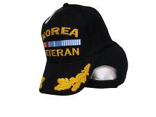 (Lot of 2) Black Korea Korean War Veteran Scrambled Eggs Feather style Hat Cap