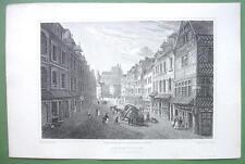 PARIS France Abbeville Carriage Accident - 1823 Antique Print by Cpt Batty