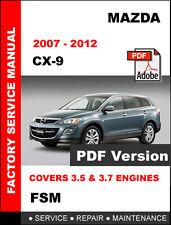 2007 mazda cx 9 service manual mazda cx 9 cx9 2007 2012 factory service repair workshop maintenance manual