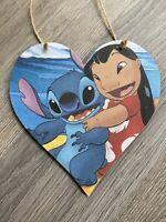 Disney Bambi Wooden Hanging Heart Plaque Baby Girl Gift Christening Gift