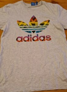 Adidas Originals Graffiti Leaf T shirt small Multicolouredretro rare