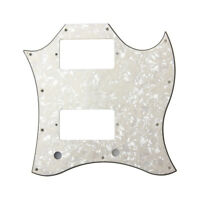 Guitar Pickguard Scratch Plate For SG Standard Full Face Yellow Pale Pearl 3 Ply