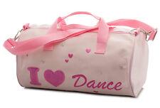 rosa da Bambina Satin BALLETTO BARILE spalla Danza Borsa Scarpe da KATZ