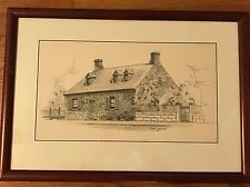 Day Lowry Pen and Ink Drawing Richmond Virginia Edgar Allan Poe Museum House
