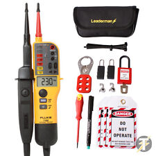 Fluke T150 Voltage and Continuity Tester + Leaderman MCB Lock Out/Off Kit LOS-K1