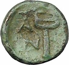 AINOS in THRACE 400BC Hermes Caduceus Authentic Ancient Greek Coin Rare i45483
