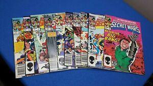 Marvel Secret Wars lot 1-12 Incomplete copper age mostly higher grade