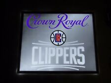 New Crown Royal La Clippers Neo Neon Led Beer Sign Bar Basketball Light Man Cave
