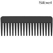 Sibel LARGE Wide Afro Comb In Black For Detangling Wild Untameable Hair & Beards