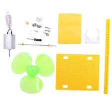 Small DC Motor Micro Wind Turbines Generator Blades W/Holder LED DIY Project Kit