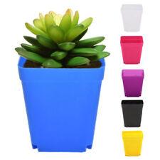 10pcs Square Multicolour Nursery Pots Plastic Plants Pots Flower Gardening Tool*
